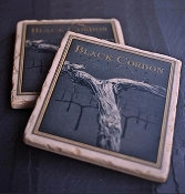 BCV Tumbled Marble Coasters - Set of 4